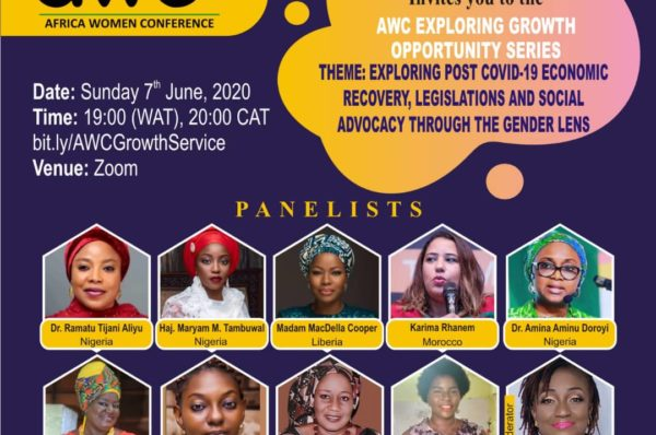 The Africa Women Conference to deliberate on the post COVID-19 era