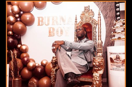 Burna Boy bags another BET award