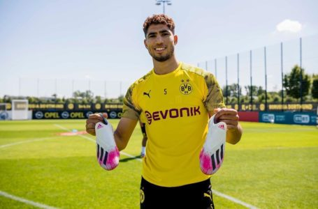Achraf Hakimi emotional about leaving Dortmund