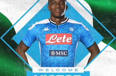 Victor Osimhen signs for Napoli